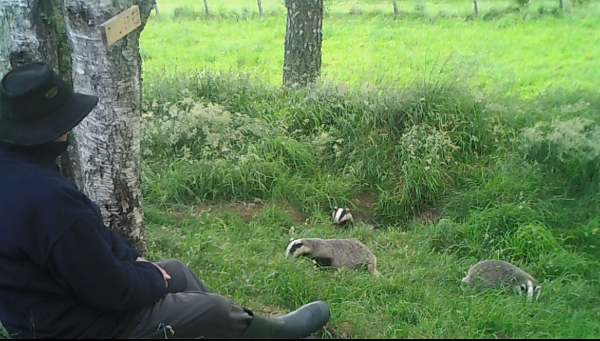 Me with the badger cubs